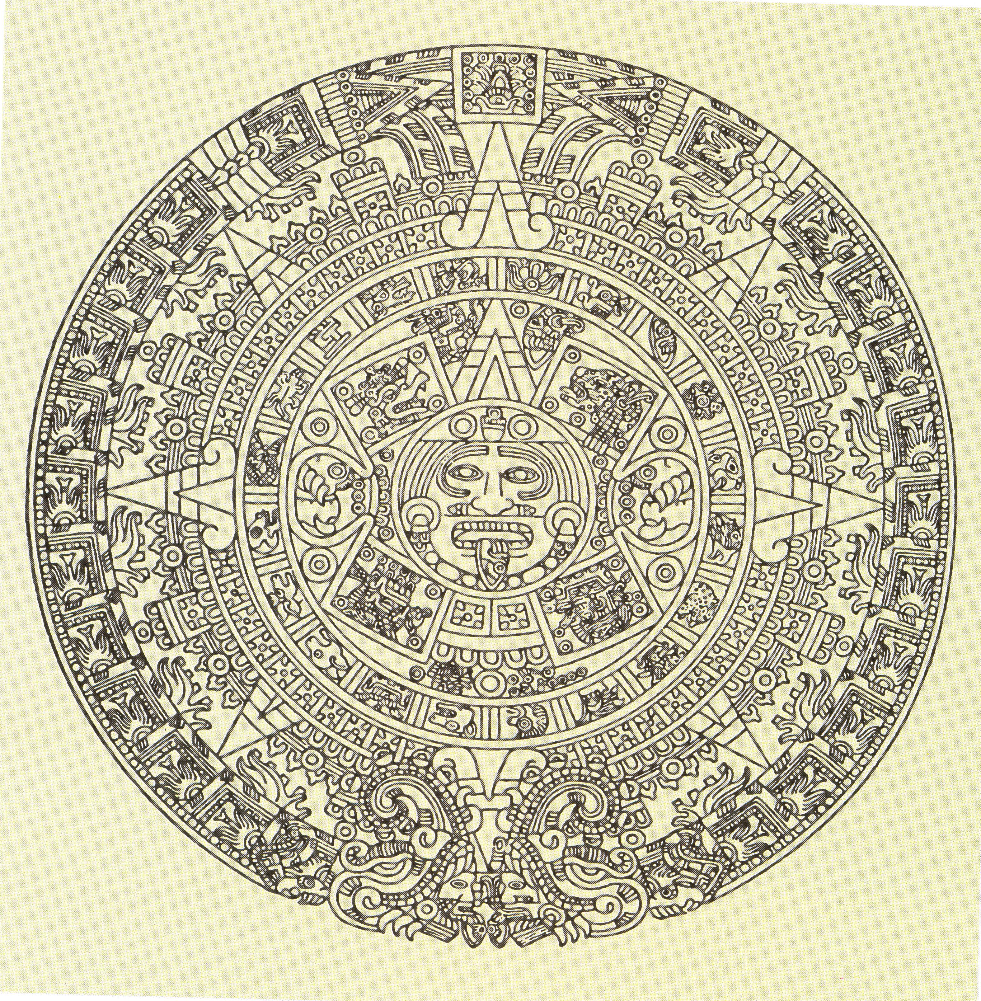 La piedra del sol mandala del se or del tiempo una - Dibujos de piedras ...